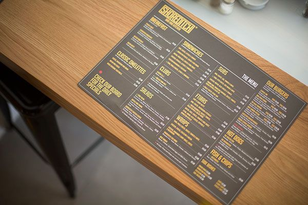 Shoreditch Bar Kitchen On Behance Menu Design