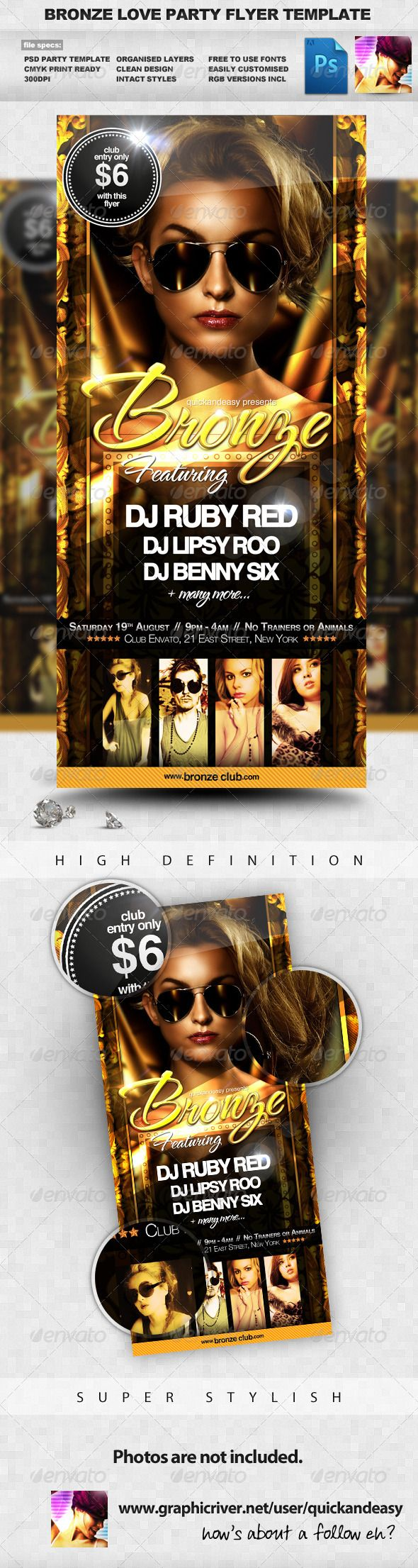 Rock Night Party Flyer Template  Flyer Template Party Flyer And