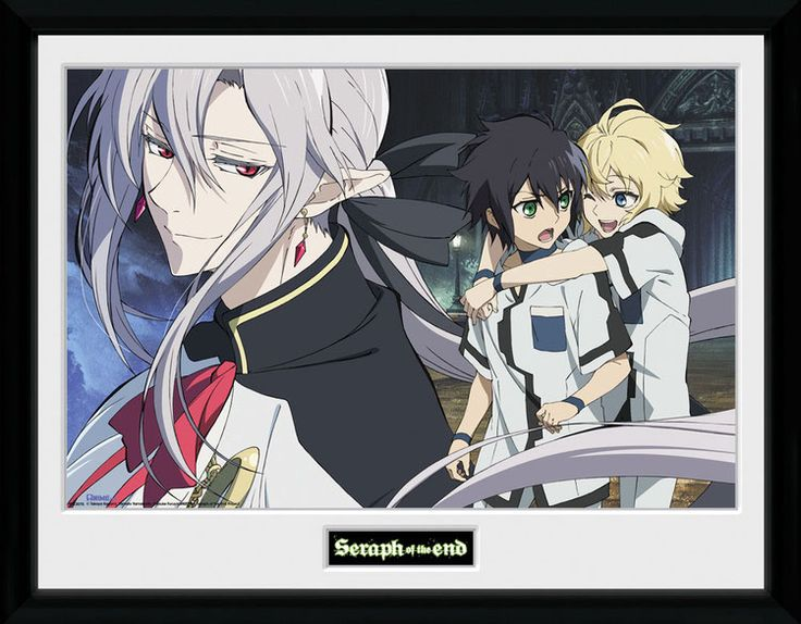 Seraph of the End Poster im Rahmen Trio 45 x 34 cm
