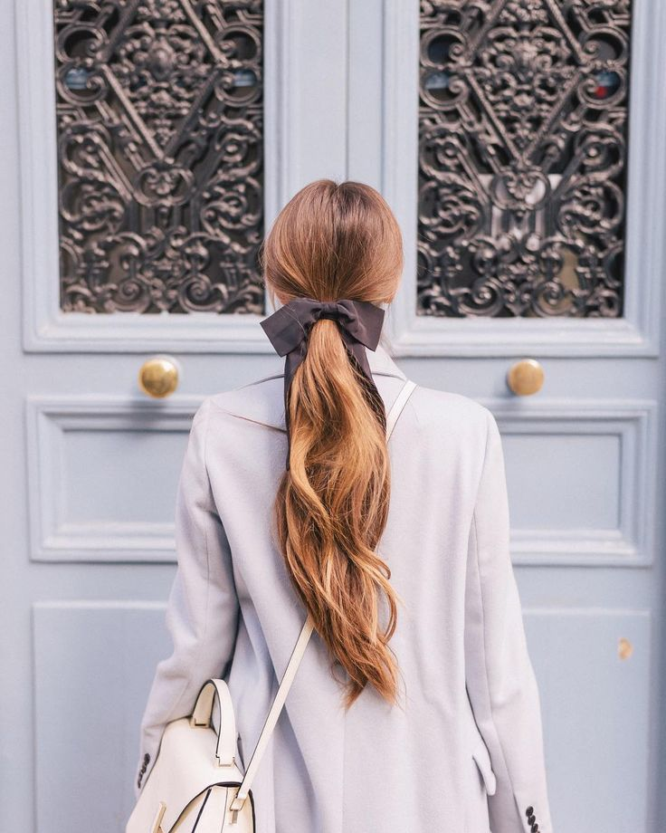 Tied with a  Linked this look in my profile! #hairbow #bows #paris #gmgtravels #frenchblue #parismonamour #parisjetaime #hairstyles