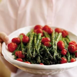 Roasted Asparagus Salad with Citrus Dressing: Side Dishes, Dinners Recipes, Food, Dresses Recipes, Roasted Asparagus, Citrus Dresses, Tomatoes, Asparagus Salad, Dinners Side