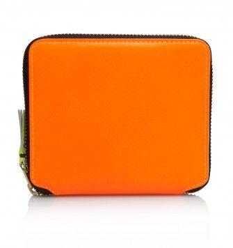 COMME DES GARÇONS WALLETS FULL ZIP SUPER FLUO SA2100SF WALLET. Light Orange. £119.00