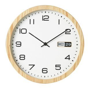 Buy Collection Eva Oak Finish Day and Date Clock at Argos.co.uk, visit Argos.co.uk to shop online for Clocks