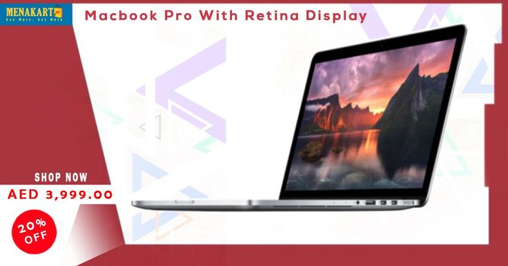 Buy Macbook Pro with Retina display MF839 - i5, 2.7 GHz Dual Core, 13.3 Inch, 128GB, 8GB, Yosemite, 2015 Release (Apple Warranty) online at Menakart. #macbookpro #MacbookProRetina #laptops #applelaptops #apple #mac #online #shopping #uae #qatar #ksa #kuwait