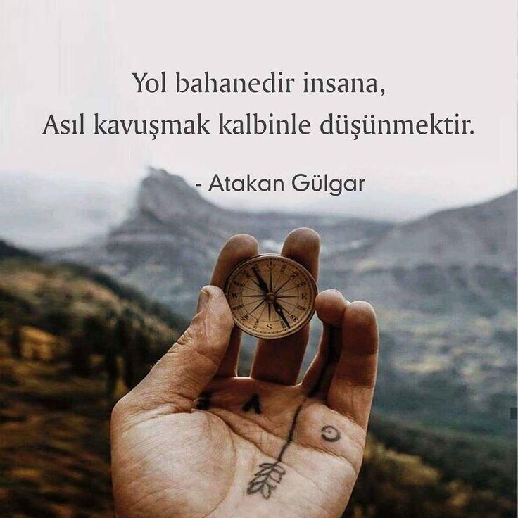 Yol bahanedir insana,  Asıl kavuşmak kalbinle düşünmektir.   - Atakan Gülgar  (Kaynak: Instagram - askbaz)  #sözler #anlamlısözler #güzelsözler #manalısözler #özlüsözler #alıntı #alıntılar #alıntıdır #alıntısözler #şiir #edebiyat