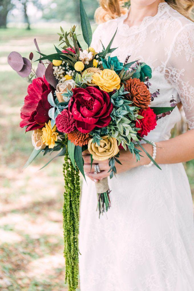 Navy Alternative bouquet bridal bouquet bridesmaids bouquet choose colors burnt orange,Ivory Wedding Bouquet made with sola flowers