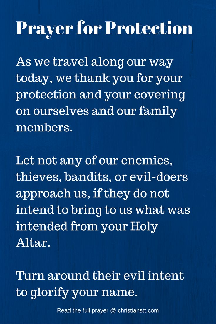 Prayer For God s Protection and Safekeeping