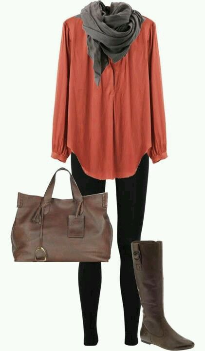 Fall clothingdon't have thin enough legs for this, but with a pair of jeans.... I could work it...