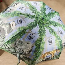 WWF World Wildlife Federation Jungle Umbrella Panda Rhino Elephant Tiger Adult