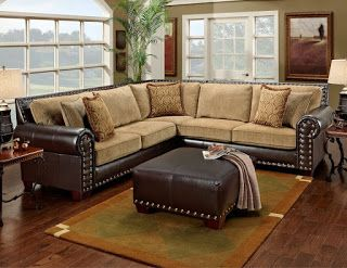 Rustic Furniture Plus · Brown SectionalLeather ...
