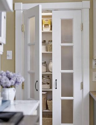 Love the doors. Replace accordion doors in a small area.