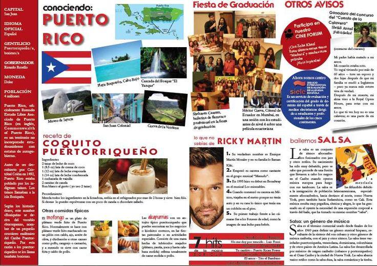 Voici une jolie page de présentation sur Puerto Rico. J'aime bien la présentation de la salsa et les explications sur la nourriture. Inscrivez-vous à la newsletter pour avoir d'autres fiches comme celles-ci.