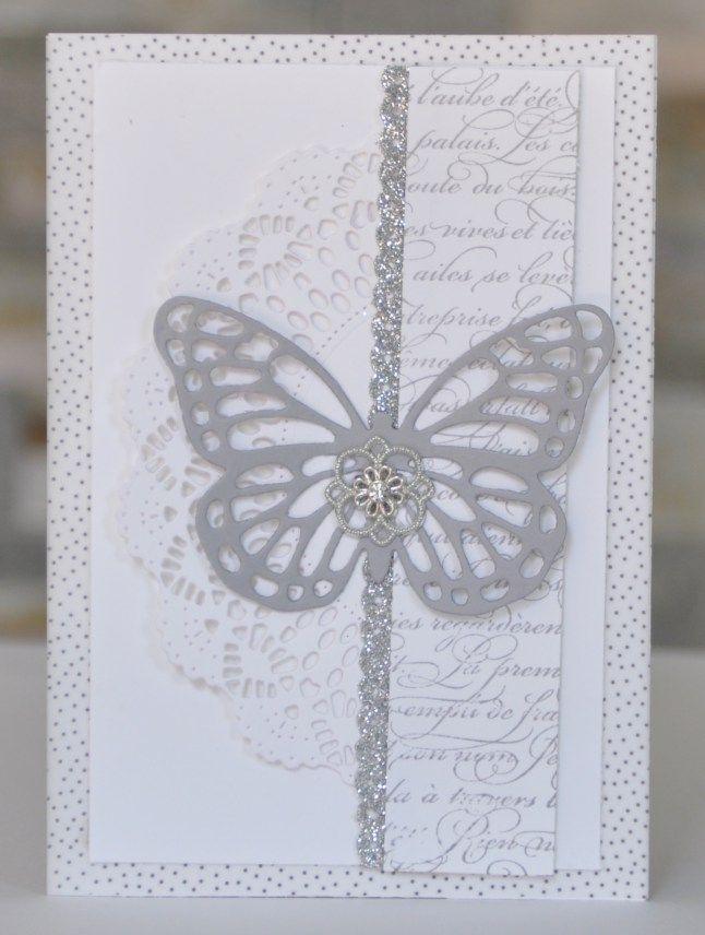 Carte de félicitation de mariage Thinits Papillon par Marie Meyer Stampin up - http://ateliers-scrapbooking.fr/ - Butterflies Thinlits - Thinlits Schmetterlinge