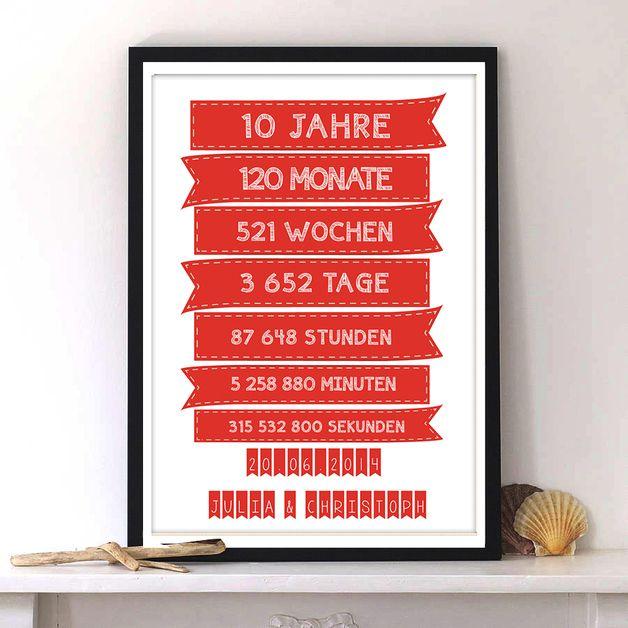 Weiteres - Geschenk zum Hochzeitstag Hochzeit-Print - ein Designerstück von PiliChepper bei DaWanda