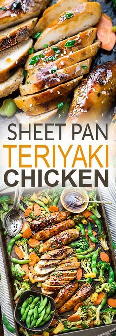 One Sheet Pan Teriyaki Chicken with broccoli, carrots and edamame makes the perfect easy weeknight meal that is even better than your local Japanese takeout restaurant! Best of all, it's full of authentic flavors and super easy to customize and make with