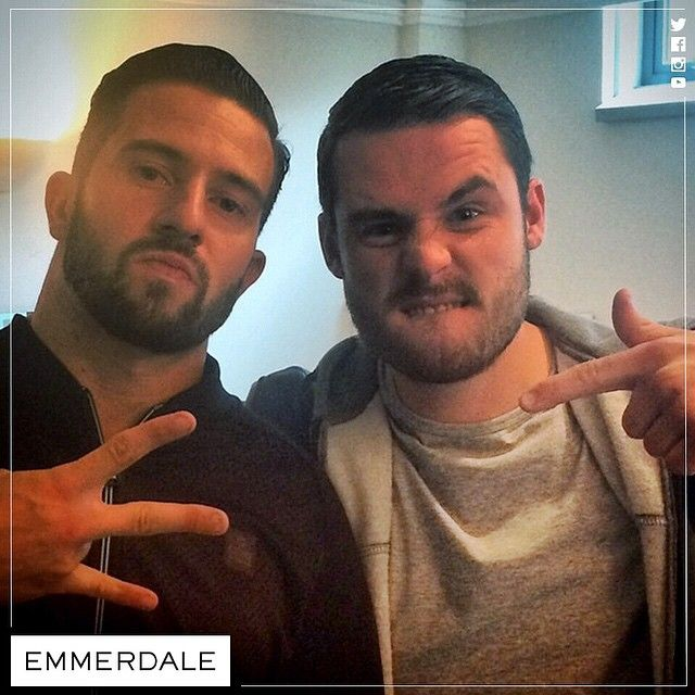 Michael Parr (Ross Barton) and Danny Miller (Aaron Livesy) (June 2015)