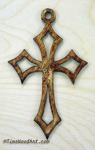 Passion Cross, Baltic Birch Wood Cross, for Wall Hanging or Ornament, Item S1-3