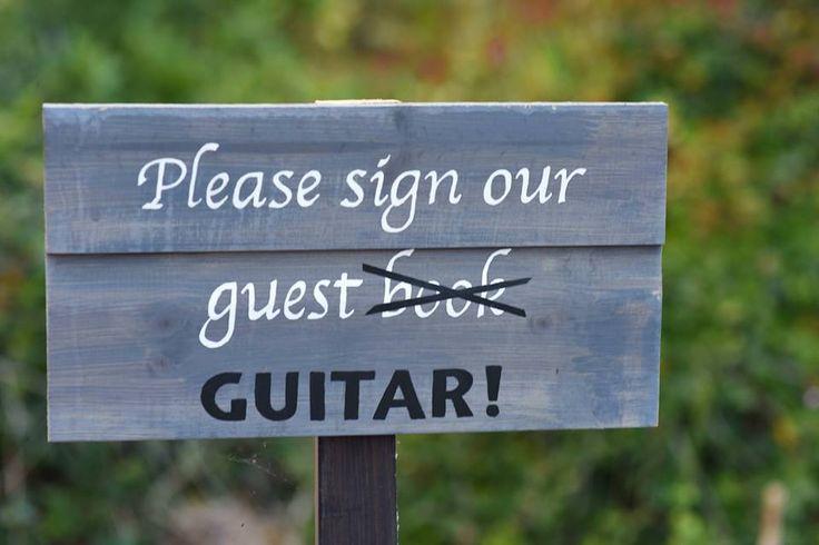 Guitar Wedding Guest book