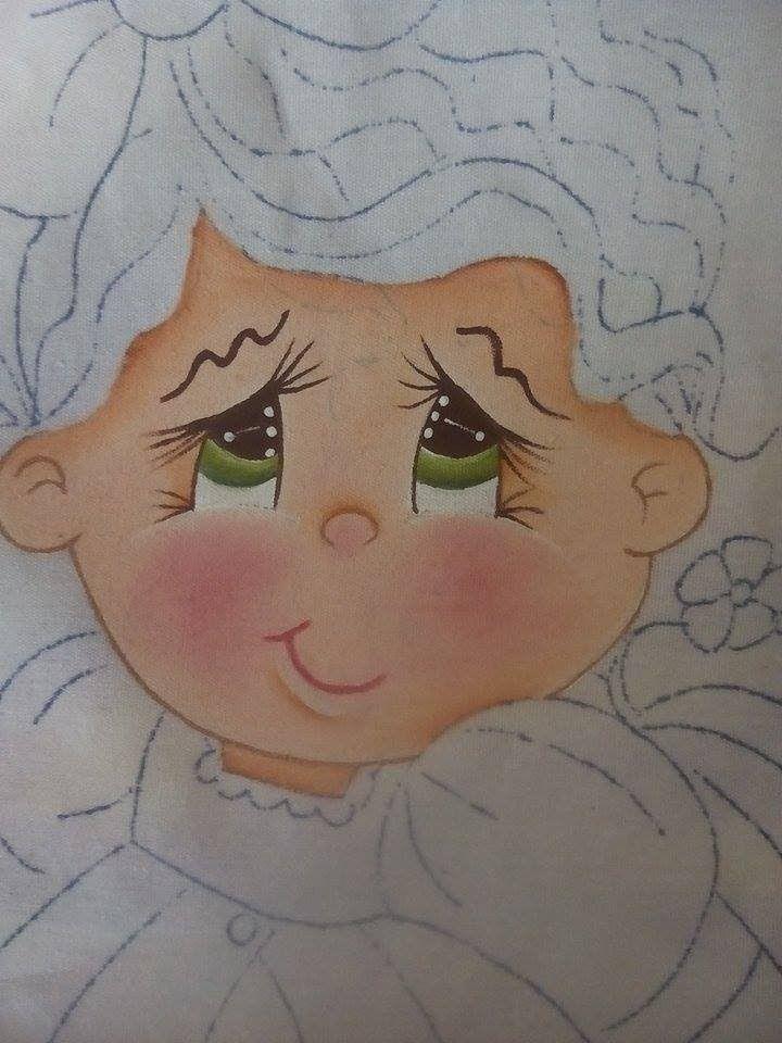 Pintura en tela niña melon # 1 con cony