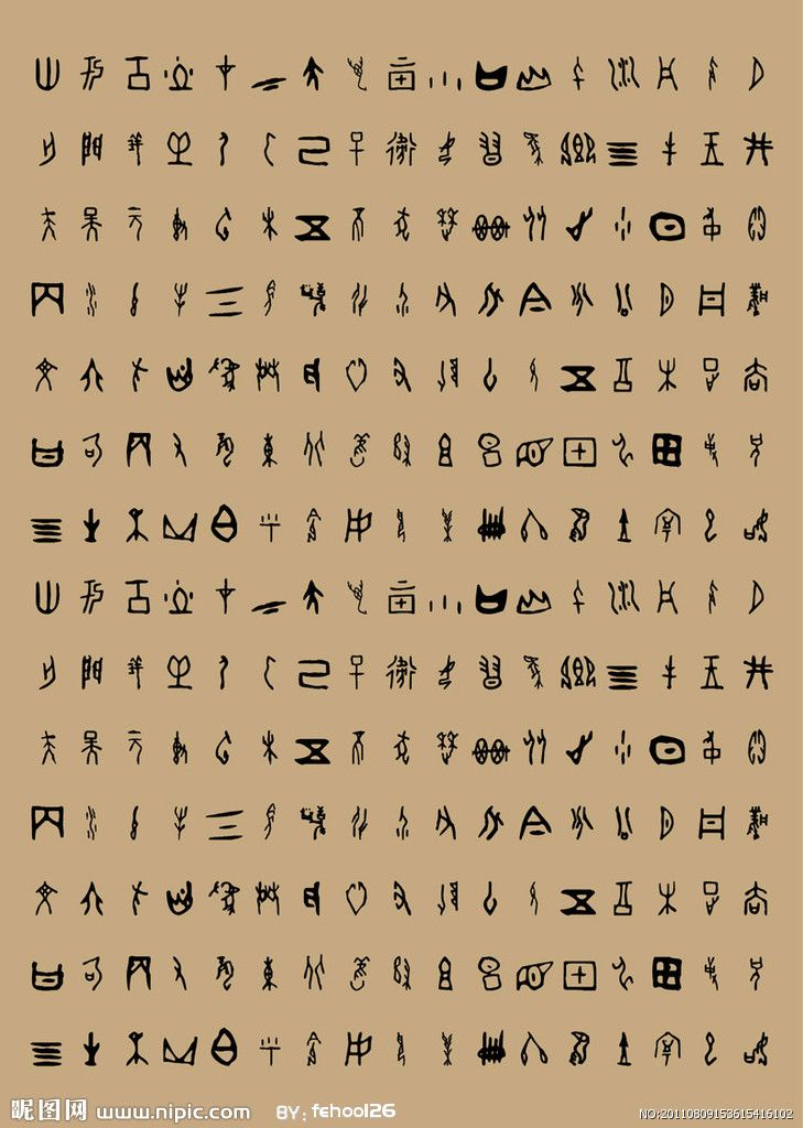 Hasil gambar untuk museum kanji kyoto Script Oracle Bone