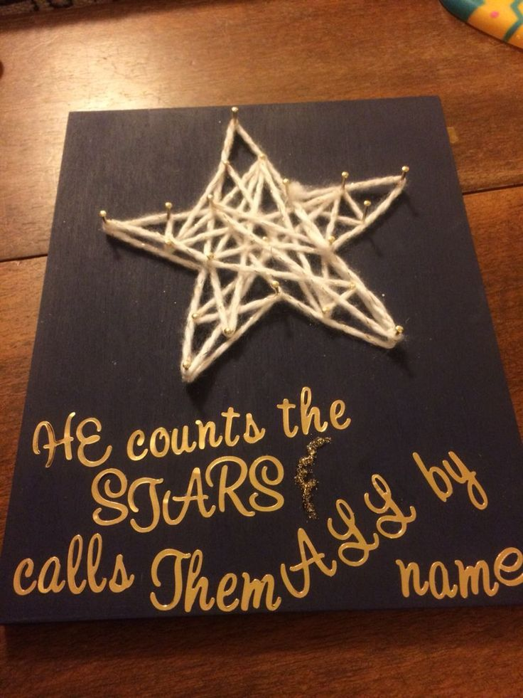 Might be too much, but Craft idea for a meeting (Maybe just the nail, yarn, star part?) Starry Eyed string art -