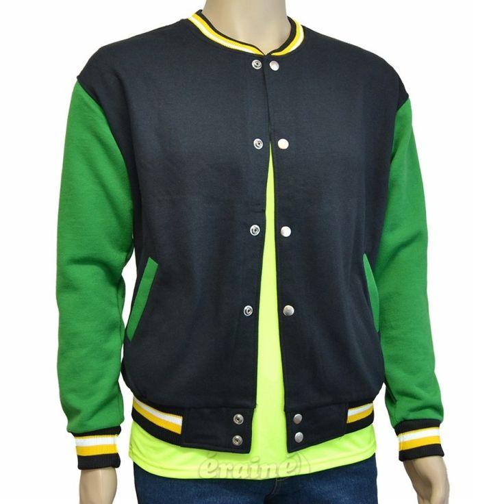 Varsity Jacket Black Green
