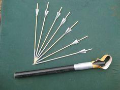 Rubber Powered Dart Launcher & Darts to make into gill grunt harpoon?