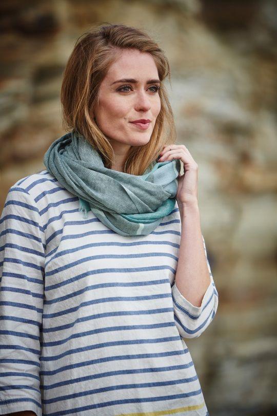 Love these Seasalt scarves from Katie Kerr in Green & Blue! Shop Now > http://www.katiekerr.co.uk/seasalt-turnstone-scarf-blue