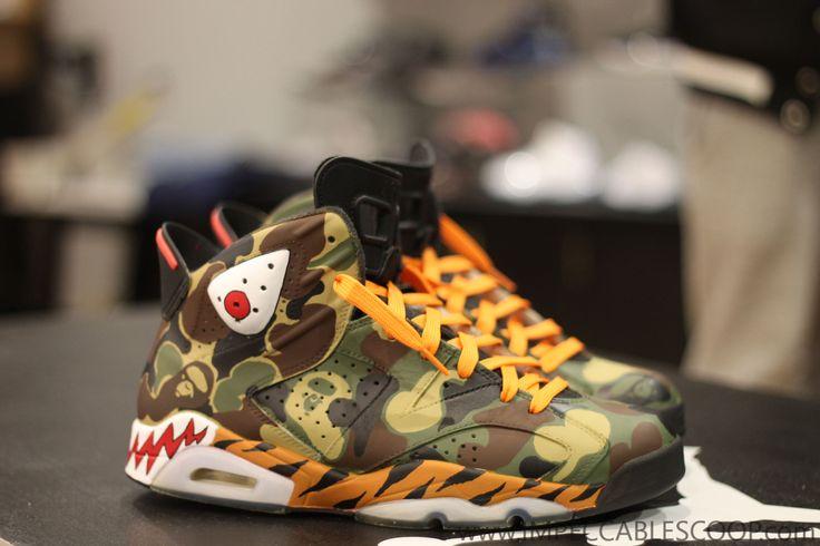 Nike Air Jordan VI BAPE Custom DOPE KICKS Pinterest