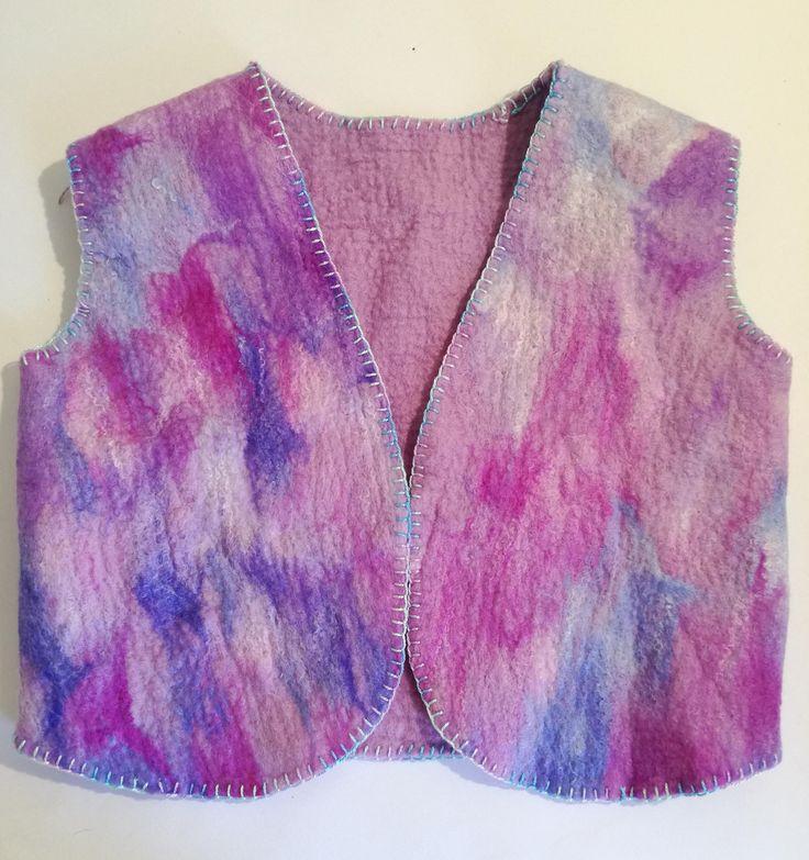 Handmade Merino Felt Vest Jacket by FeltCreativeNZ on Etsy