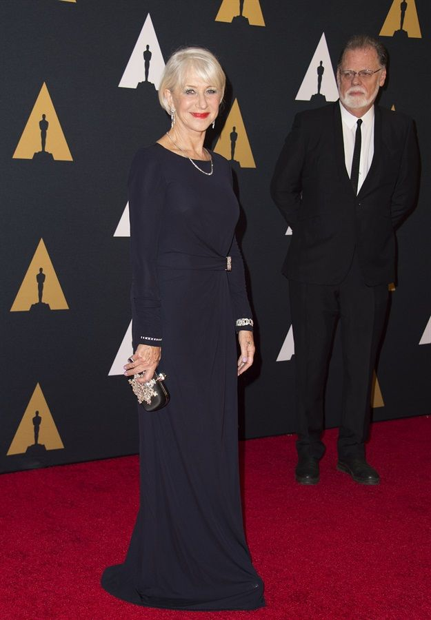 Helen Mirren in David Meister |.| Governors Awards 2016