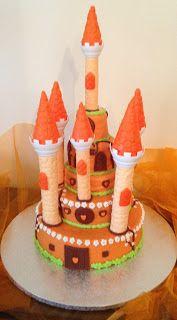 FLOWER CAKE DESIGNER: Lindo castelo para a Princesa Sílvia