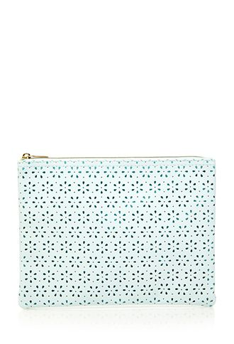 Floral Perforated Makeup Pouch | Forever 21 | #beautymark