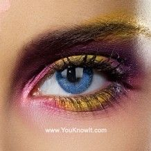 Colour Vision Glimmer Blue Contact Lenses (Pair)