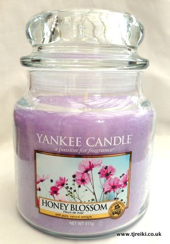 The house needs to smell great :)  Yankee Candle Honey Blossom Housewarmer Jar