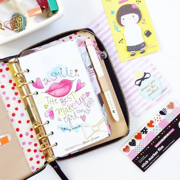 Using the August Kit in my Agenda