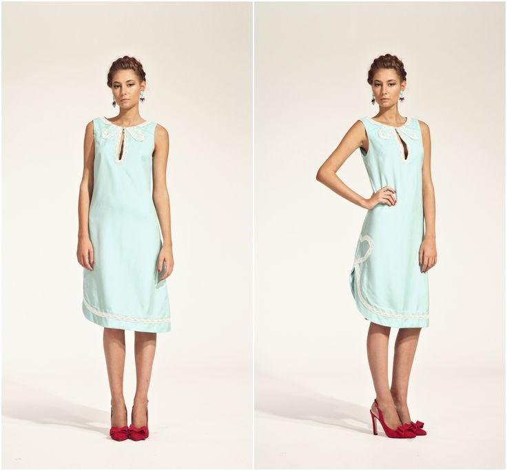 ZUZANA VESELÁ ATELIER. This soft blue color mimics one of the top pantone colors for spring 2016. How beautiful is it in a dress? #ss16 #zuzanavesela #czechdesigner #pfsshowroom #pantone @zvesel