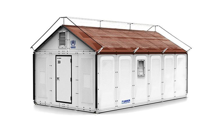 green design, eco design, sustainable design, IKEA foundation, IKEA refugee shelters, United Nations High Commissioner for Refugees, UNCHR, solar powered shelters, modular shelters, disaster relief