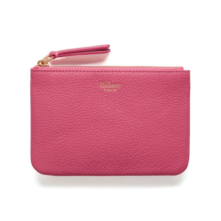 Mulberry - Zip Coin Pouch in Candy Small Classic Grain