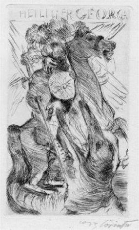 Der heilige Georg by Lovis Corinth