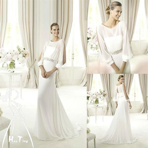 Где купить свадебное платье с рукавами