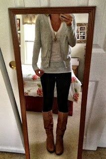 sweater, tshirt, leggings  boots. Favorite fall outfit