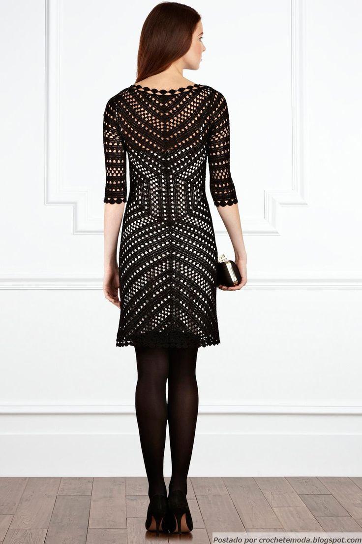 Crochetemoda: Vestido de Crochet Preto