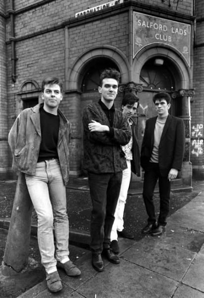 The Smiths were an English alternative rock band, formed in Manchester in 1982. Based on the song writing partnership of Morrissey (vocals) and Johnny Marr (guitar), the band also included Andy Rourke (bass) and Mike Joyce (drums). Critics have called them the most important alternative rock band to emerge from the British independent music scene of the 1980s.