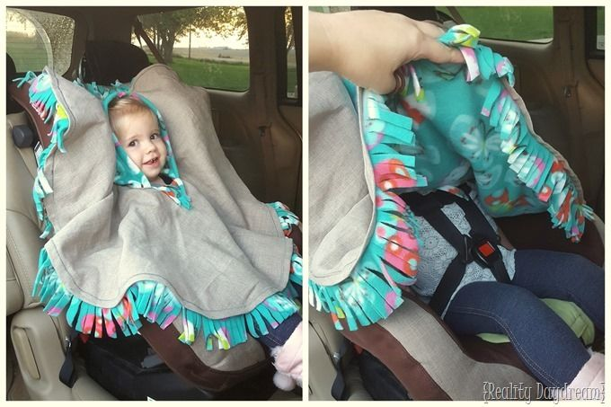 Fleece Poncho Cape for toddlers... SO PERFECT for when they're in the carseat so they can be buckled securely AND warm! {Reality Daydream}