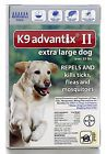 K9 Advantix II Topical Medium Dog over 55lbs Flea & Tick Treatment - 6Pack - NEW
