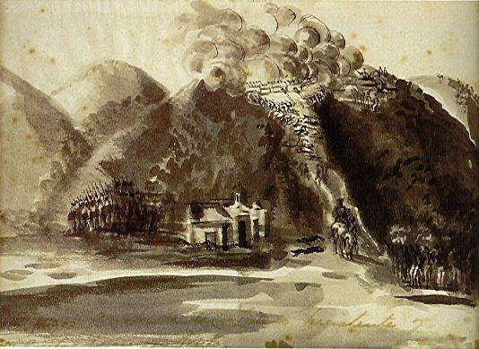 Cuchilla del tambo - Jose Maria Espinosa Prieto (1796-1883) Técnica:Tinta china sobre papel blanco Dimensiones:15.5x20.7cms] Año (creación o publicación):1845