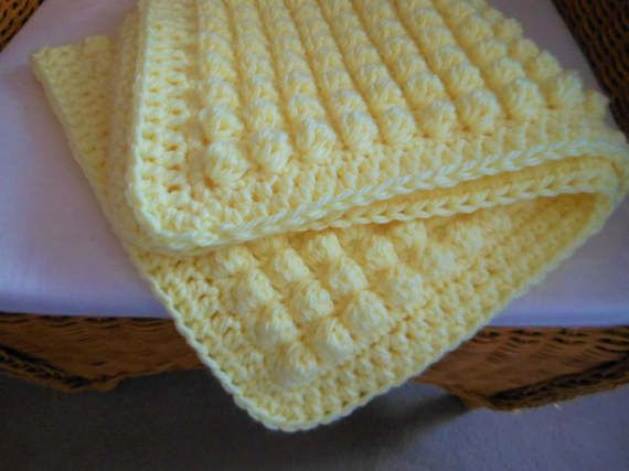 Gender neutral baby blanket crochet baby by DelightfulcraftsbyMG