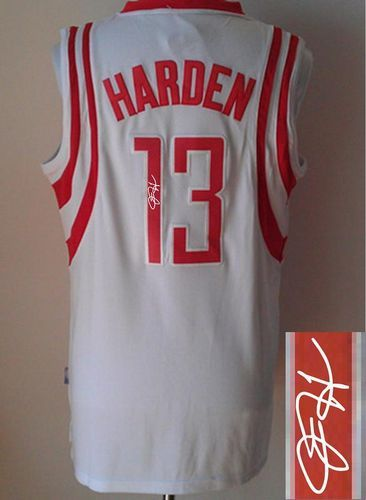 best service fba8b 55a5e Revolution 30 Autographed Rockets #13 James Harden White ...