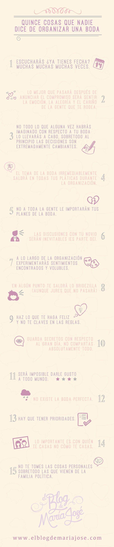 Las quince cosas que nadie dice de organizar una boda #bodas #elblogdemaríajosé…